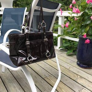 Patent leather Coach purse